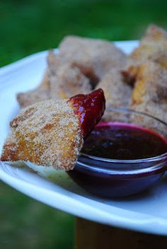The Enchanted Spoon: Navajo Pumpkin Fry Bread Doughnuts with Prickly Pear Dipping Sauce