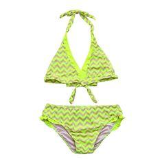 f004cba22e4bb ... Infant Kids Girls Lace Striped Ruched Sleeveless Swimwear Swimsuit  Bathing Bikini Set Outfits (Blue, Yellow) (Yellow, 152): Amazon.co.uk:  Clothing