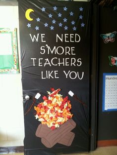 Door decoration we did for teacher appreciation week.
