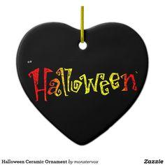 Halloween Ceramic Ornament #Halloween #Holiday #Ceramic #Heart #Ornament #Kids