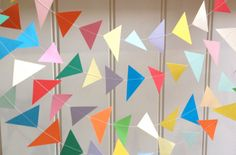 KITE   Paper Garland 12 Feet by MaisyandAlice on Etsy