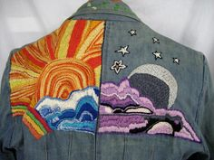 vintage hippie  60's/70's embroidered jean jackets | ... Babylon Vintage Clothing - Vintage Men's Embroidered Hippie Jacket