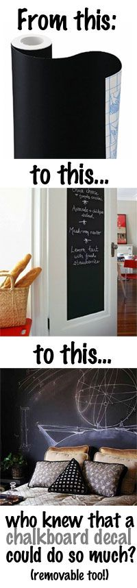 Different Uses for a Removable Chalkboard Wall Decal