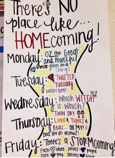 Poster for Red Ribbon or Spirit Week - Student Council Spirt Week Ideas, Spirit Week Themes, Spirit Day Ideas, Highschool Spirit Week Ideas, High School Homecoming, Homecoming Week, Homecoming Ideas, Homecoming Parade, Homecoming Spirit Weeks
