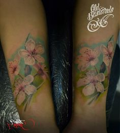 Cherry flowers done by Cristi Satran