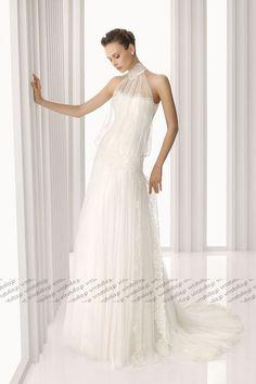 スレンダーライン ウェディングドレス ビスチェ コートトレーン オフホワイト 024666037001