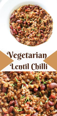 This is a quick and easy recipe for a delicious, healthy vegetarian chilli using lentils and kidney beans to power up the protein. Chilli Recipes, Vegetarian Recipes, Healthy Recipes, High Protein Recipes, Healthy Protein, White Chicken Chilli, Turkey Bacon, Kidney Beans, Quick Easy Meals