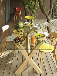 Trend kind with Alinea Outdoor Spaces, Outdoor Living, Outdoor Decor, Porches, Turbulence Deco, Glass Top Dining Table, Outdoor Gardens, Sweet Home, Table Settings