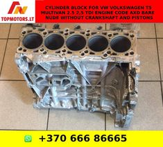 Cylinder Block For VW VOLKSWAGEN T5 Multivan 2.5 2,5 TDI Engine Code AXD Bare / Nude without Crankshaft and Pistons Engine Rebuild, Vw Volkswagen, T5, Motor, Confidence, Engineering, Coding, Nude, Watch