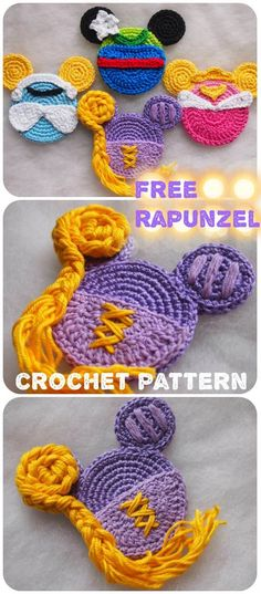 I have been loving fairy-tales all my life. But I met Rapunzel just a couple of years ago. And the story of Rapu… Crochet Unique, Crochet Simple, Double Crochet, Single Crochet, Small Crochet Gifts, Crochet Gratis, Crochet Amigurumi, Free Crochet, Knit Crochet