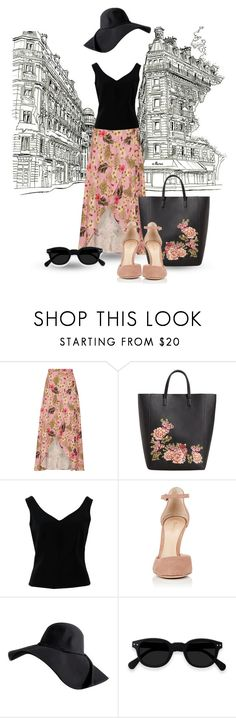 """""""Traveling passion"""" by sara-cdth ❤ liked on Polyvore featuring Miguelina, MANGO, ADAM and Gianvito Rossi"""