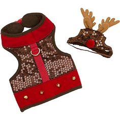 Petco Wag-a-tude Sequin Reindeer Dog Harness & Hat 14.99