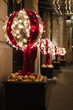Make the most of out your yard, porch and doorway with these breathtaking outdoor Christmas decoration ideas. We compiled some of the best ideas for [. Diy Christmas Lights, Decorating With Christmas Lights, Christmas Yard, Magical Christmas, Noel Christmas, Outdoor Christmas Decorations, Holiday Lights, Christmas Design, All Things Christmas