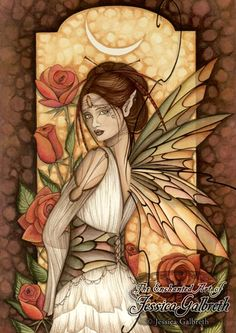 Gypsy Rose by Jessica Galbreth - I own a wall tile with this picture on it.