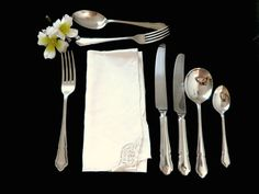 44 piece silver plated cutlery set Dubarry pattern by Taingtiques