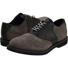 Cool suede saddle shoes