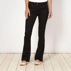 Shape enhancing black bootcut jeans at debenhams.com