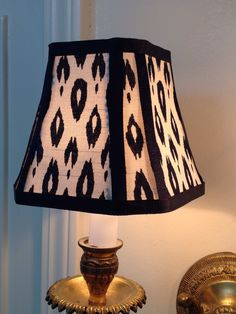 New shade I made available at Etsy in my shop called scboriginals Chandelier Lamp Shades, Custom Shades, Shady Lady, Ceiling Fixtures, Grosgrain Ribbon, Floor Lamp, Table Lamp, Blue And White, Shapes