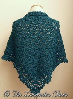 The Daisy Fields Shawl crochet pattern is full of gorgeous textures and a lacy stitch pattern. Get the FREE crochet pattern at The Lavender Chair Crochet Prayer Shawls, Crochet Shawls And Wraps, Crochet Scarves, Crochet Yarn, Crochet Clothes, Crochet Stitches, Free Crochet, Crochet Granny, Shawl Patterns