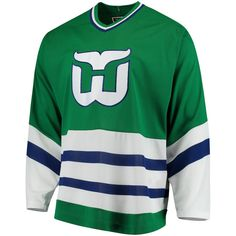 Men s Hartford Whalers CCM Green Classic Authentic Throwback Team Jersey f683c3d2d