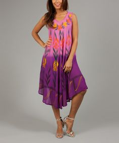 Another great find on #zulily! Pink & Purple Floral Louise Shift Dress by Anabelle #zulilyfinds