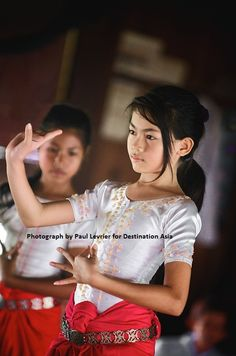 Cambodian girl training in the art of Apsara dance