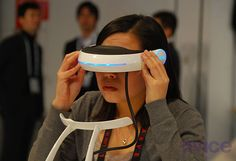 Sony's prototype 3D glasses. For, you know, watching TV in space.