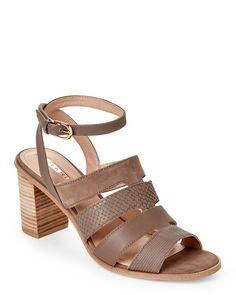 TAHARI Taupe-Grey Fairhaven Block Heel Sandals High Heels, Shoes Heels, Flats, Shoes 2015, Designer Shoes, Block Heels, Taupe, Footwear, Booty