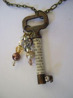 altered key pendant