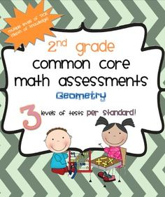 Here's a set of 3 tests for every Common Core geometry standard (2.G.1, 2.G.2, and 2.G.3) in 2nd Grade. Includes  instructions for use as well as a rubric tailored to each standard.