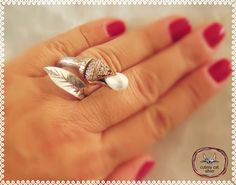 Turkish Ottoman Tulip 925k Sterling Silver Pearl Adjustable Ring