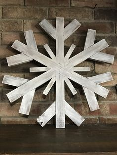 Extra Large wood snowflake - scrap wood creation