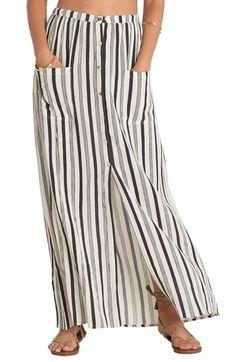 Billabong Honey Stripe Maxi Skirt available at #Nordstrom