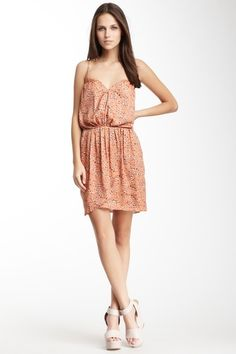 Printed Sweetheart Neck Dress by BCBGeneration on @HauteLook