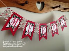 Cookie cutter Christmas, candy cane lane dsp, letters for you, banner Christmas Paper Crafts, Homemade Christmas Cards, Christmas Banners, Stampin Up Christmas, Christmas Candy, Christmas Projects, Christmas Decorations, Christmas Ornaments, Holiday Banner