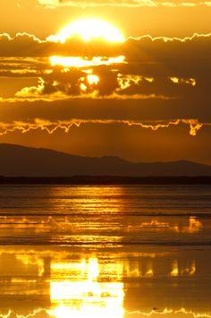 Sunrise After A Rain - Bonneville Salt Flats State Park, Utah
