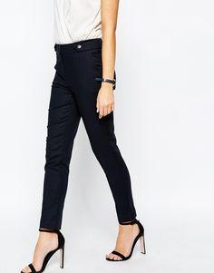 Image 1 ofOasis Cotton Straight Leg Trousers