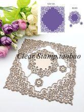 lace frame design Metal Die cutting Dies For DIY Scrapbooking Photo Album Decorative Embossing Folder ZQ-191(China (Mainland))