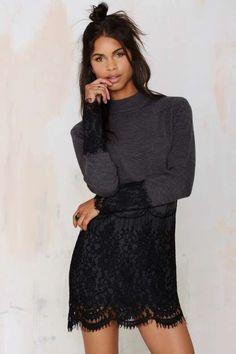 Dear Prudence Lace Sweater Dress