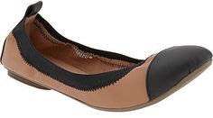 Old Navy Women's Faux-Leather Flats - perfect for any occasion, go with just about anything: black and tan/camel perfect combo