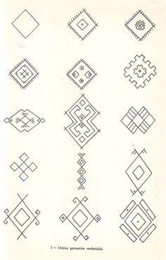 Image Embroidery Tools, Folk Embroidery, Hand Embroidery Designs, Embroidery Patterns, Ancient Symbols, Ancient Art, Foto Transfer, Art Costume, Romanian Lace