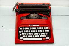 Free Shipping Worldwide  Red Olivetti Lettera 12   by ElGranero