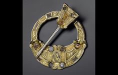 British Museum - Highlight objects: Hunterston brooch Silver, gold and amber Hunterston, south-west Scotland, AD 700–800. © National Museums Scotland.
