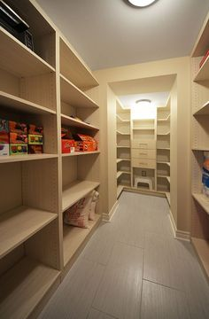 Basement storage room - storage heaven!  This need a  L O V E  button!  For next house!!!