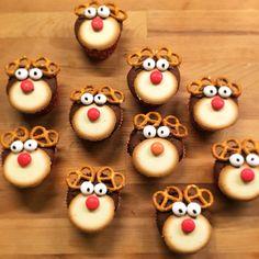 Rendier cupcakes