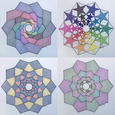 #geometry #symmetry #pattern #handmade #pentagon #fractal #fibonacci #mathart #regolo54 #ink #star #circle #rotation