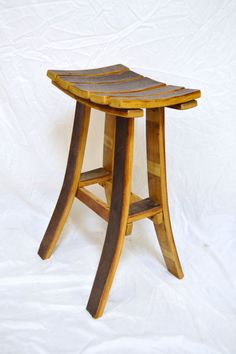 Wine barrel stave Tasting bar stool by WineyGuys on Etsy, $149.00