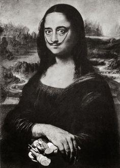 Auto-portrait de Dalí en Joconde - Salvador Dalí (reprise de Mona Lisa 1954)