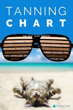 How tan are you? Look it up on this tanning chart! | Easy Planet Travel - World travel made simple