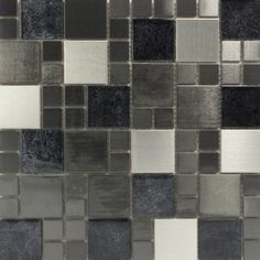 Metallic Modular Glass Mosaic 300x300 Great monochrome tiles from Tile Mountain would look great in my new kitchen